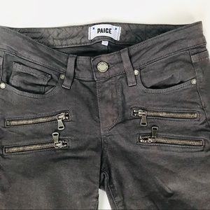 PAIGE Size 25 Gray Edgemont With Zippers